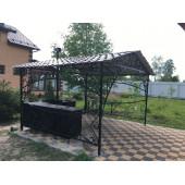 Беседка с металлической крышей 3 м*3 м