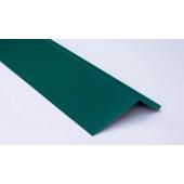 Планка карнизная для металлочерепицы 2 м зеленая RAL 6005
