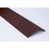 Планка карнизная для металлочерепицы 2 м коричневая RAL 8017