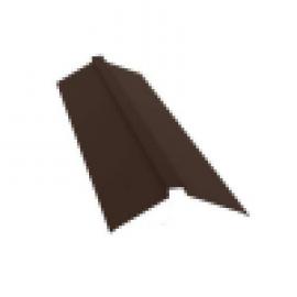 Конек для металлочерепицы плоский с пазом 115*30*115  2м коричневый RAL 8017 цена