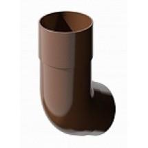 Колено трубы пластиковое d82 мм 135° ПВХ Технониколь